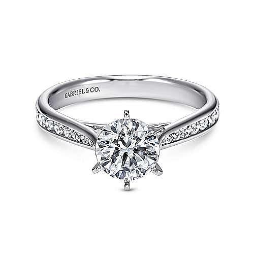 Gabriel - Danielle Platinum Round Straight Engagement Ring