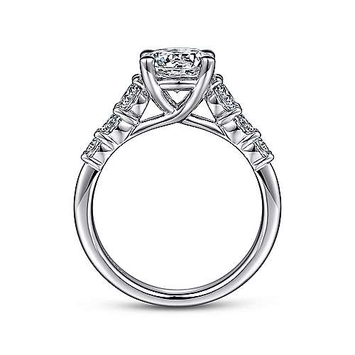 Darby 14k White Gold Round Straight Engagement Ring angle 2