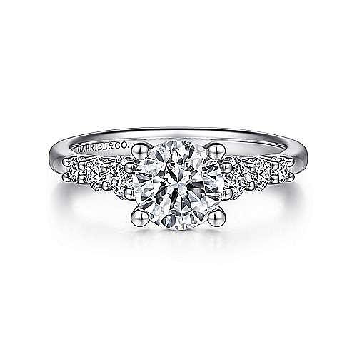 Gabriel - Darby Platinum Round Straight Engagement Ring