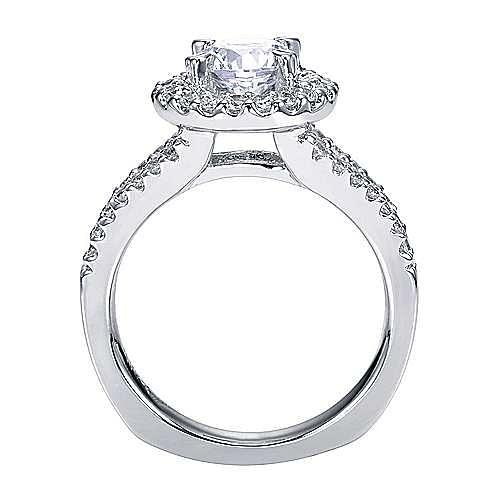 Drew Platinum Round Halo Engagement Ring angle 2