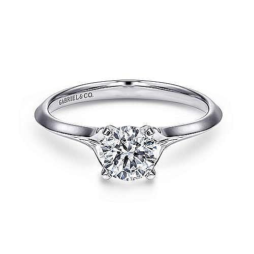 Gabriel - Ellis Platinum Round Solitaire Engagement Ring