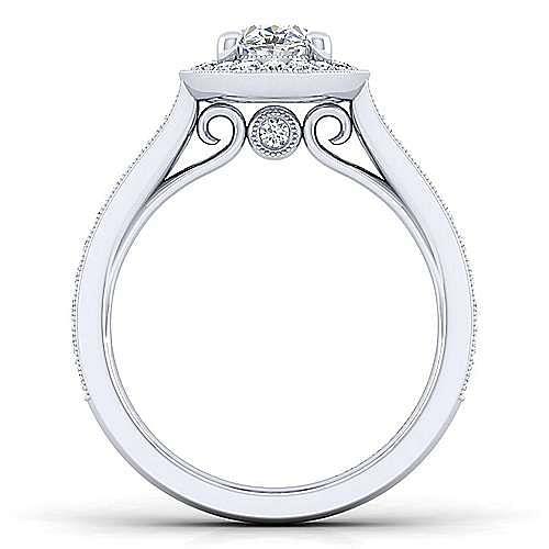 Harper 14k White Gold Oval Halo Engagement Ring