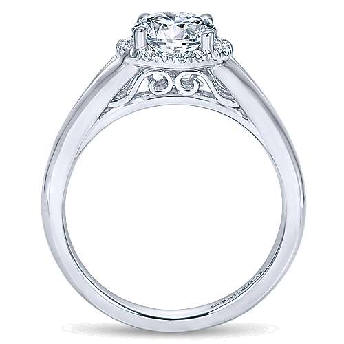 Henley 14k White Gold Round Halo Engagement Ring angle 2