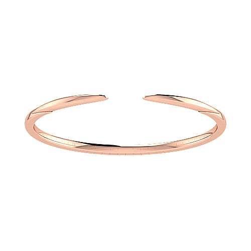 High Polished 14K Rose Gold Split Cuff Bracelet