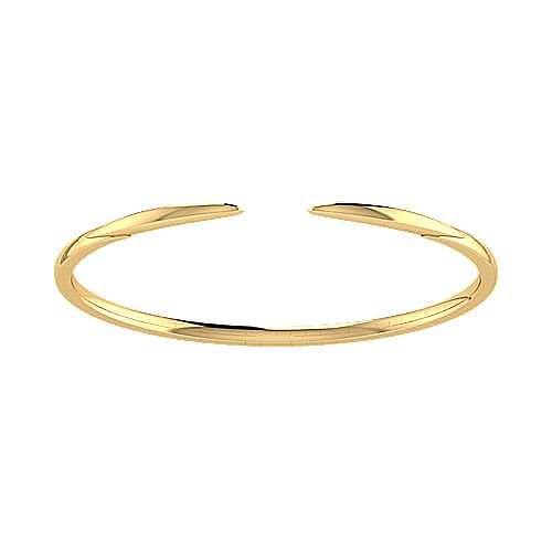 High Polished 14K Yellow Gold Split Cuff Bracelet