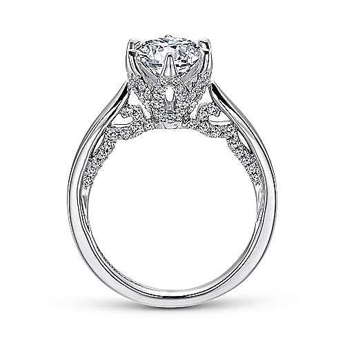 Hortensia 18k White Gold Round Straight Engagement Ring