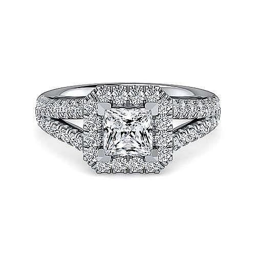 Gabriel - James Platinum Princess Cut Halo Engagement Ring