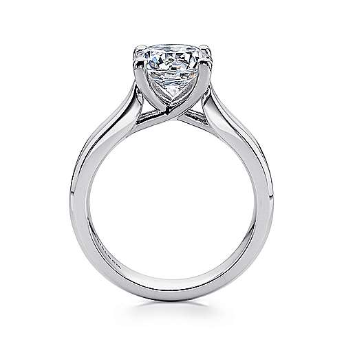 Jamie 14k White Gold Round Solitaire Engagement Ring angle 2