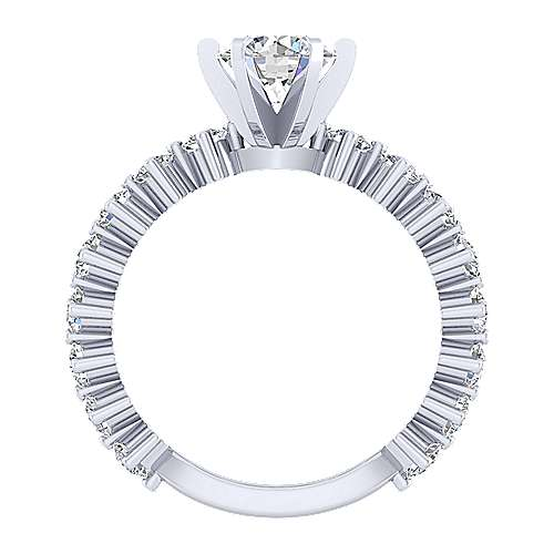 Janis 18k White Gold Round Straight Engagement Ring angle 2