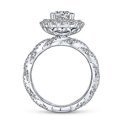 Jennifer 18k White Gold Round Double Halo Engagement Ring