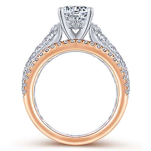 Jessa 18k White And Rose Gold Round Straight Engagement Ring angle 2