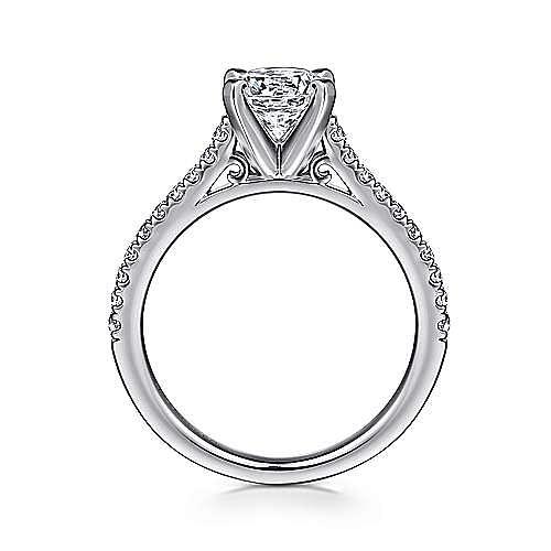 Joanna 14k White Gold Round Straight Engagement Ring angle 2