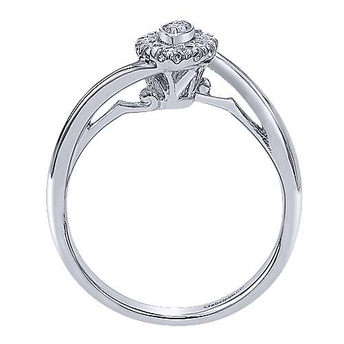 Jojo 14k White Gold Round Halo Engagement Ring angle 2