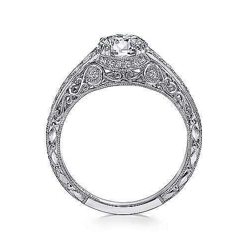 Kali Platinum Round Straight Engagement Ring angle 2
