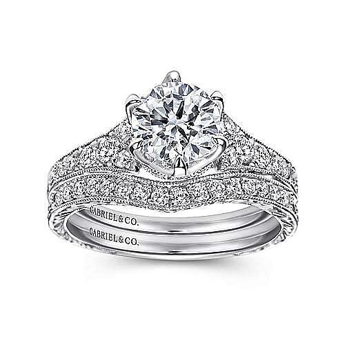 Kearney Platinum Round Straight Engagement Ring angle 4
