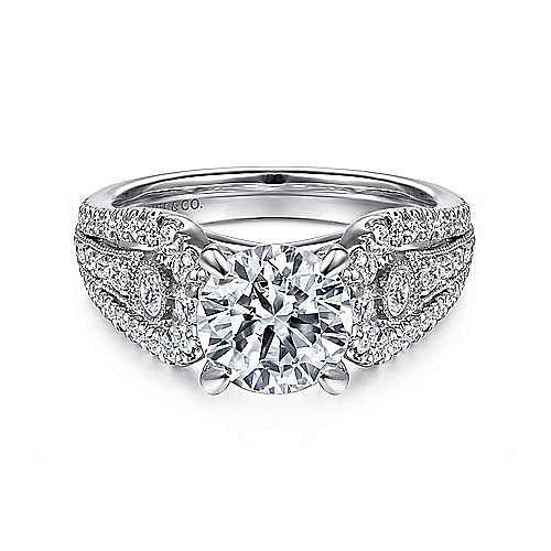Gabriel - Kehlani 14k White Gold Round Straight Engagement Ring