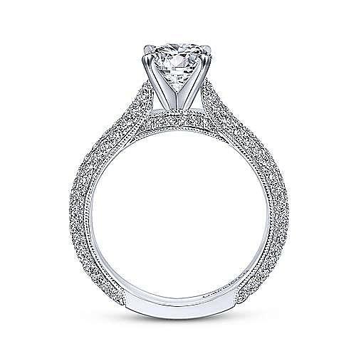 Kirsten 14k White Gold Round Straight Engagement Ring angle 2