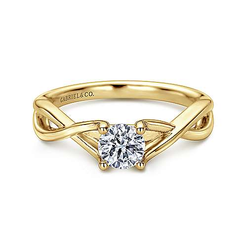 Gabriel - Kylo 14k Yellow Gold Round Solitaire Engagement Ring