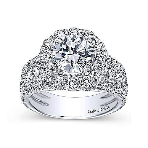 Lainey 18k White Gold Round Halo Engagement Ring angle 5