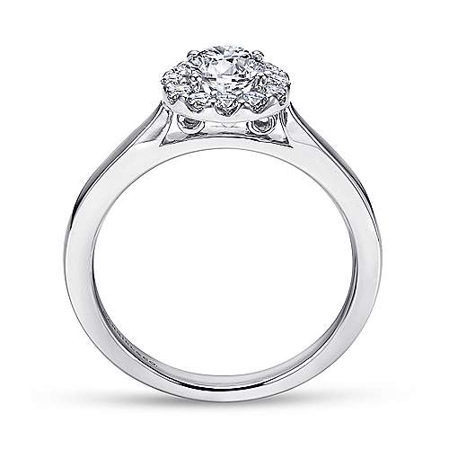 Lana 14k White Gold Round Halo Engagement Ring angle 2