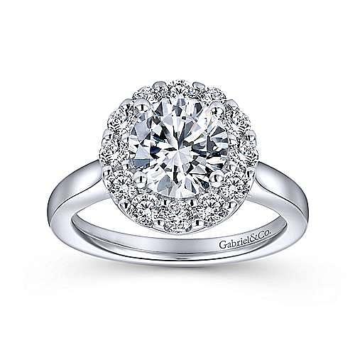 Lana 14k White Gold Round Halo Engagement Ring angle 5