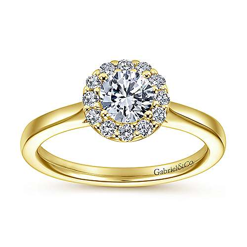 Lana 14k Yellow And White Gold Round Halo Engagement Ring angle 5