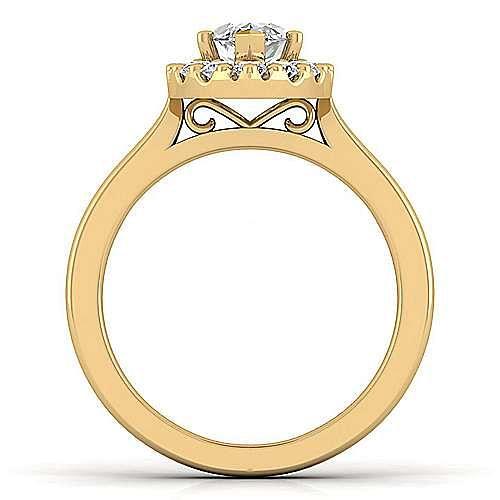 Lana 14k Yellow Gold Marquise  Halo Engagement Ring angle 2