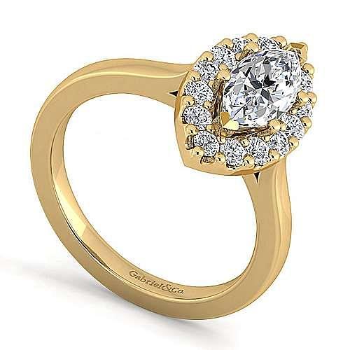 Lana 14k Yellow Gold Marquise  Halo Engagement Ring angle 3