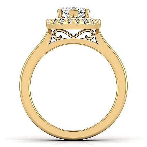 Lana 14k Yellow Gold Pear Shape Halo Engagement Ring angle 2