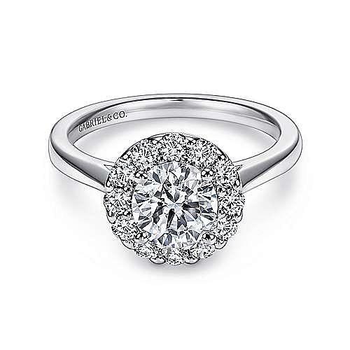 Gabriel - Lana Platinum Round Halo Engagement Ring