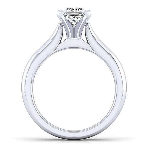 Lauren 14k White Gold Princess Cut Solitaire Engagement Ring angle 2