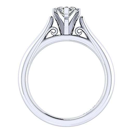 Leah 14k White Gold Marquise  Solitaire Engagement Ring angle 2