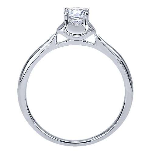Libby 14k White Gold Round Solitaire Engagement Ring angle 2
