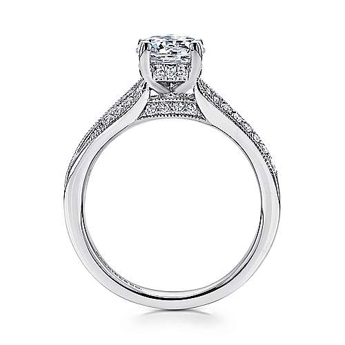 Lynley 14k White Gold Round Split Shank Engagement Ring angle 2