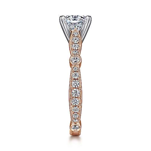 Mabel 14k White And Rose Gold Round Straight Engagement Ring angle 5