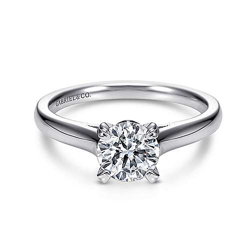 Gabriel - Maeve 14k White Gold Round Solitaire Engagement Ring