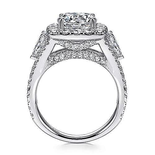 Maia 18k White Gold Round Halo Engagement Ring angle 2