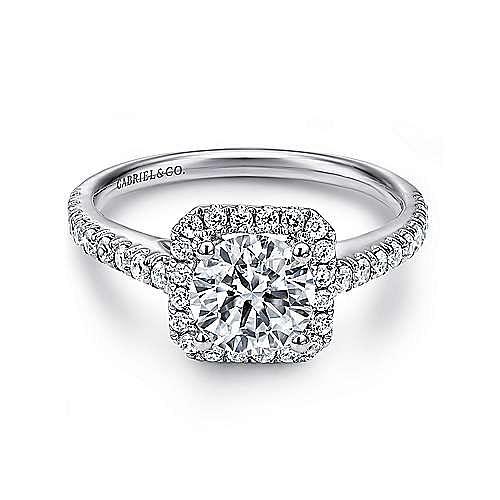 Gabriel - Margot Platinum Round Halo Engagement Ring