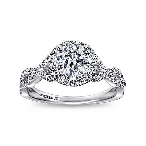 Engagement rings find your engagement rings gabriel co for Halo engagement rings with wedding bands