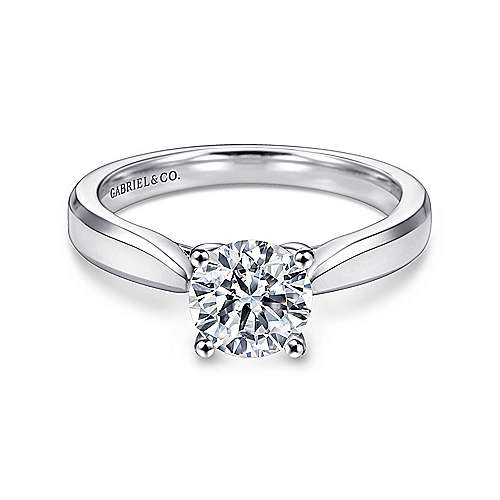 Gabriel - Marnie 14k White Gold Round Solitaire Engagement Ring