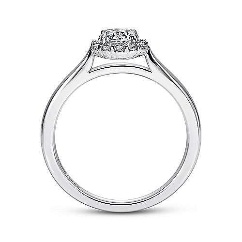 Michaela 14k White Gold Round Halo Engagement Ring angle 2