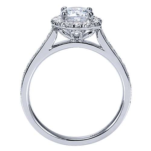Missy 14k White Gold Round Halo Engagement Ring angle 2