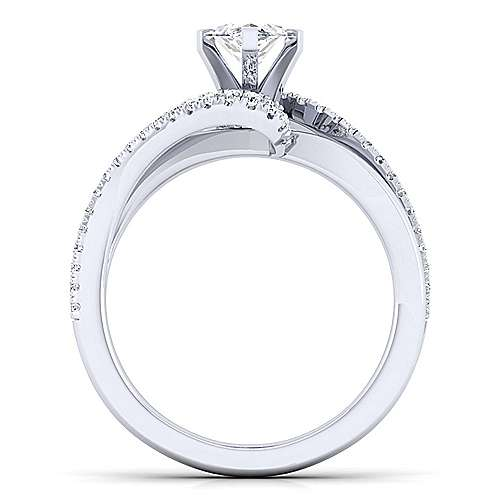 Naomi 14k White Gold Marquise  Bypass Engagement Ring angle 2