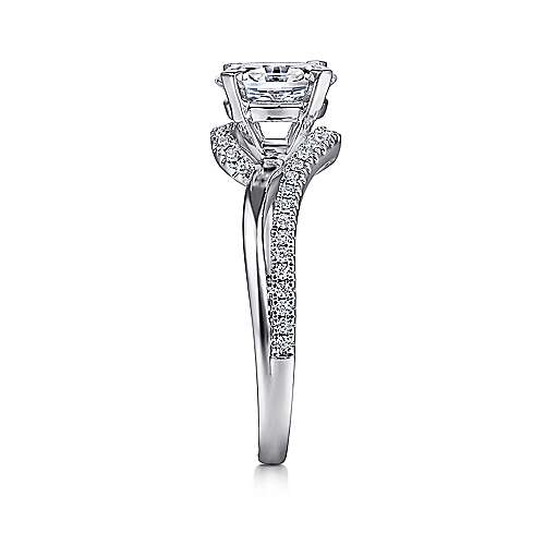 Naomi 14k White Gold Oval Bypass Engagement Ring angle 5