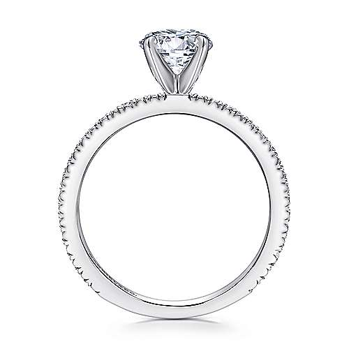 Oyin 14k White Gold Round Straight Engagement Ring angle 2