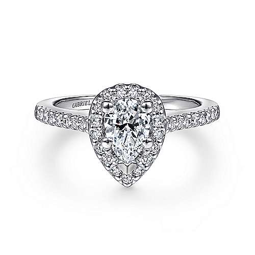 Paige Platinum Pear Shape Halo Engagement Ring  73d7cd0a8