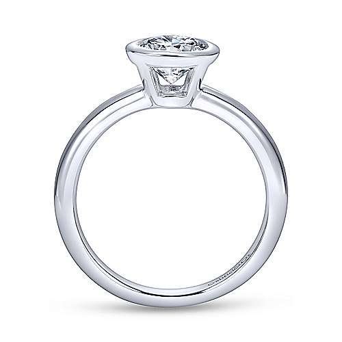 Palmer 14k White Gold Round Solitaire Engagement Ring angle 2