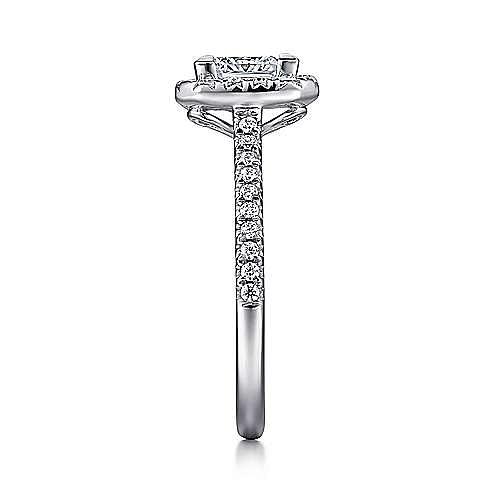 Patience Platinum Princess Cut Halo Engagement Ring angle 5