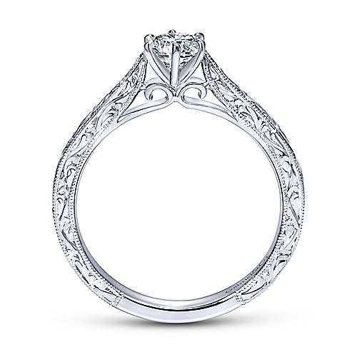 Persephone 14k White Gold Round Straight Engagement Ring angle 2