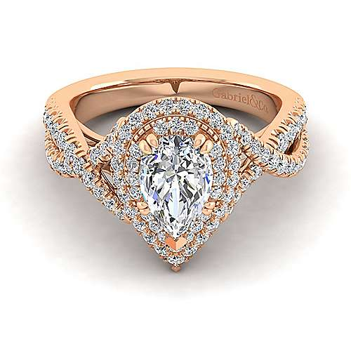 Morganite And Diamond Ring In 14K Rose Gold Best Rose 2017